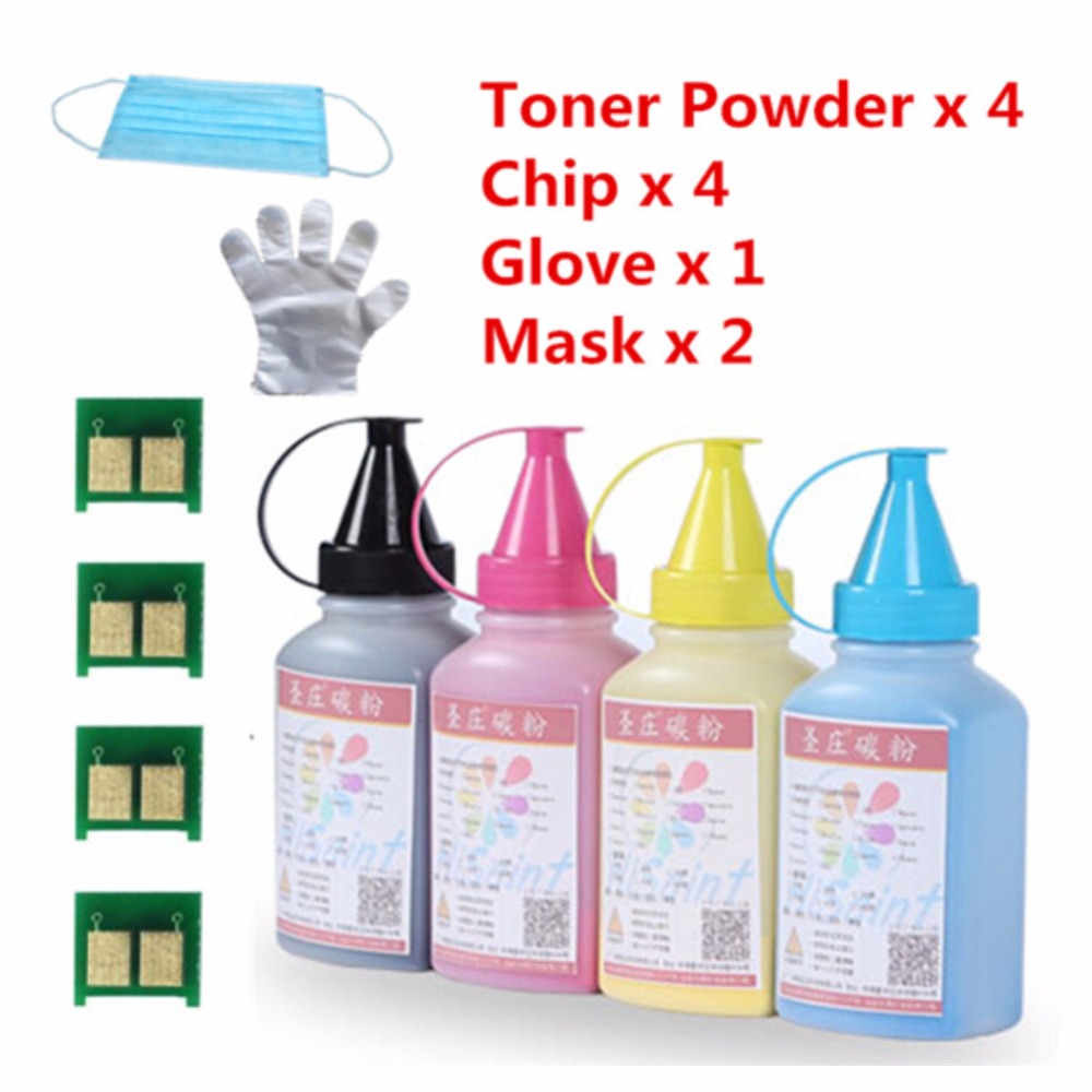 ФОТО 2016 For  HP 4CHP CE320A CE321A CE322A CE323A Toner Powder  For HP Color LaserJet CM1415fn MFP/CM1415fnw MFP/CP1525n/CP1525nw