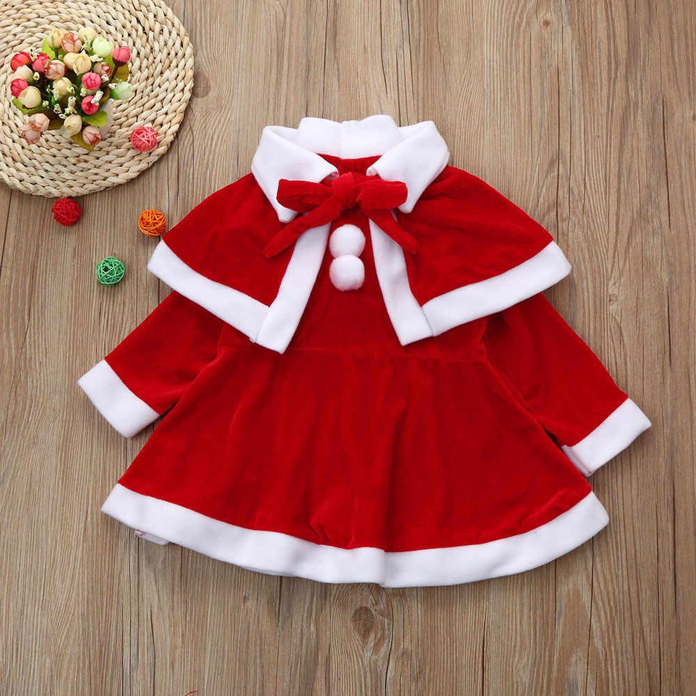 Рождественская Одежда для маленьких девочек; костюм; нарядные платья + шаль + шляпа; комплект из красного платья из смешанного хлопка; 827