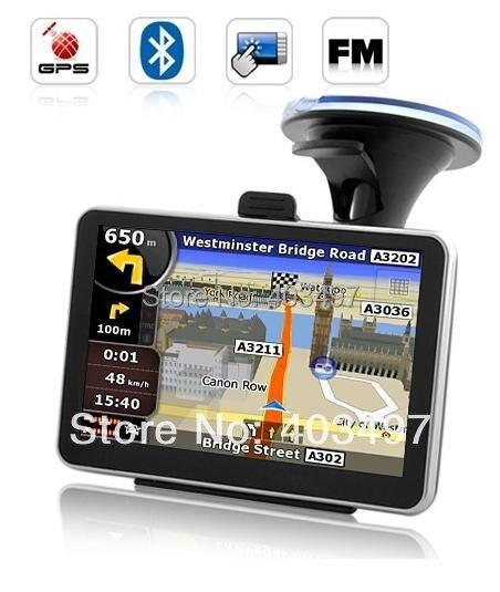 Бесплатная доставка HD800x480 5 дюймов Gps-навигатор без Bluetooth & AV IN internal 4 ГБ DDR 128 М натяг Навител или полный карта Европы