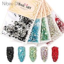 1080 шт смешанные размеры ногтей Стразы Кристалл страз камни красочные стеклянные стразы для ногтей искусство 3D украшения аксессуары