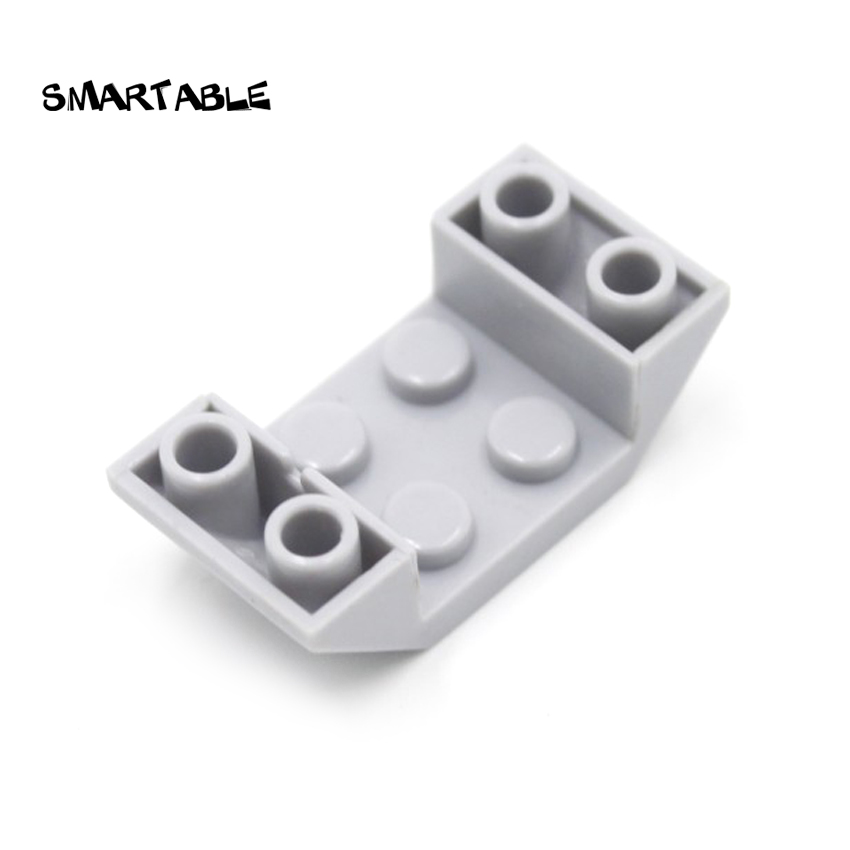 LEGO Lot of 4 White 2x2x3 Slope Pieces