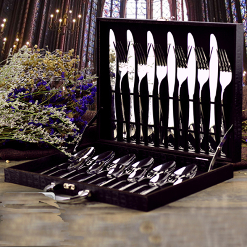 Finest Quality Simple Style Food Grade Stainless Steel Cutlery Set font b Knife b font Fork