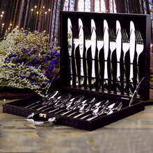 Finest Quality Simple Style Food Grade Stainless Steel Cutlery Set,Knife Fork Spoon Tea Spoon,24 Pieces Set,Family Tableware