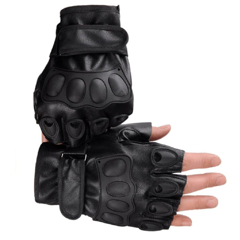 LESHP-Half-Finger-Gloves-PU-Leather-Men-Gloves-For-Tactical-Military-Exercise-Training-Sports-Motorcycle-Ridding (4)