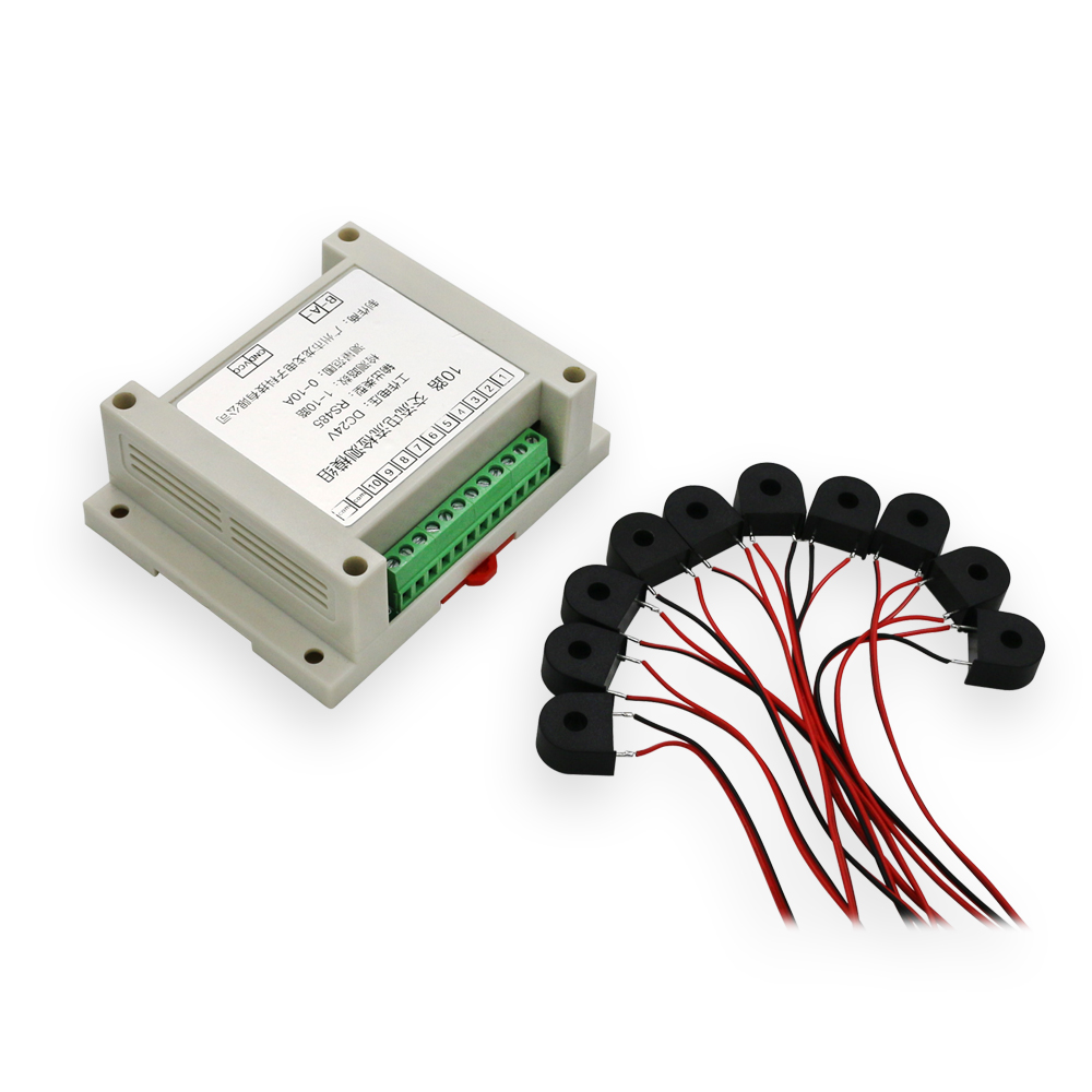 Multi-channel AC current detection module 5A 10A 20A 50A RS485 output transmitter 10 channel AC signal detection moduleMulti-channel AC current detection module 5A 10A 20A 50A RS485 output transmitter 10 channel AC signal detection module