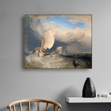 Funeral at Sea By William Turner Wall Art Canvas Poster and Print Painting Decorative Picture for Living Room Home Decor
