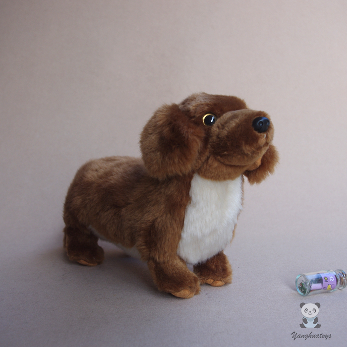 Stuffed Animals Toys For Children Gifts Real Life Plush Dachshund