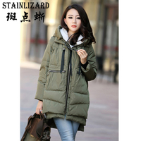 STAINLIZARD Warm Thick Hooded Winter Coats Women Casual Cotton Parkas Long Ladies Clothing Outwear Female Women
