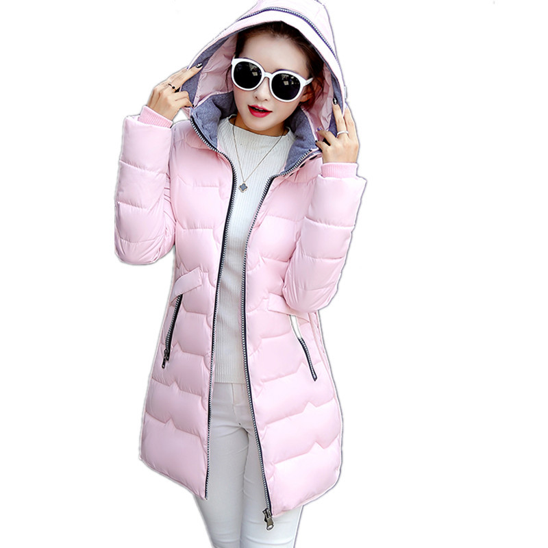Large Size Hooded Solid Color 7XL Winter Jacket Women Cotton Padded Medium-long Parka Manteau Femme Hiver Winter Jacket TT3366 fashion warm lambswool hooded thick cotton parka padded manteau femme hiver casual solid color wadded winter jacket tt3349