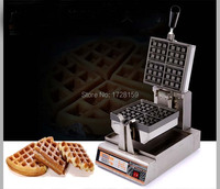 Free Shipping Electric Automatic Commercial Rotary Waffle Stick Maker With Digital Panel Square Belgian Liege Waffle
