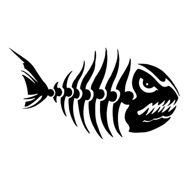 158 Cm Ikan Tulang Mobil Sticker Decal Kartun Menyenangkan Ikan