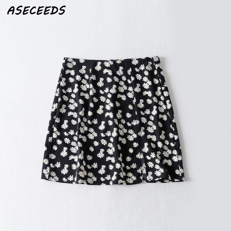 High Waist Mini Skirt Women Floral Modis Faldas Streetwear Pencil Skirt Korean Clothes 2019 Summer Vintage Clothing