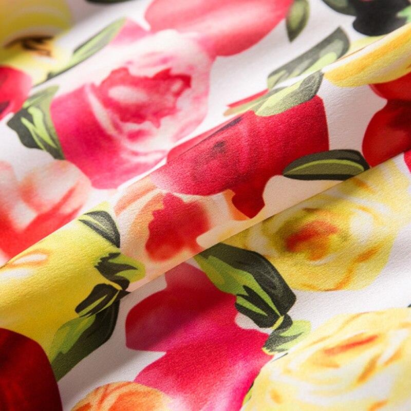 C3251 Mantelrmellos Blumendruck Kleid Frauen Minikleider 0wOPkXn8