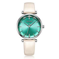 New Lady Women's Watch Japan Quartz Elegant Classic Fashion Simple Hours Bracelet Leather Clock Girl's Birthday Gift Julius Box