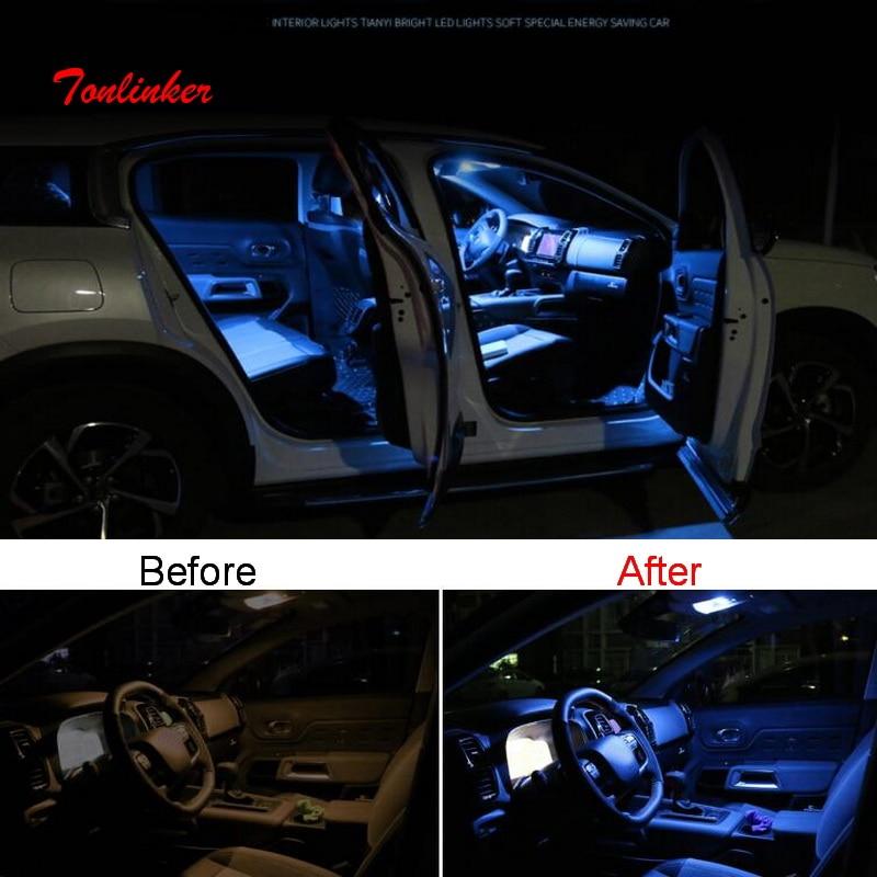 Tonlinker Interior Brightness Atmosphere Mouldings LED Lamp For CITROEN C5 AIRCROSS 2017-19 Car Styling 1-3 PCS LED Replace Lamp