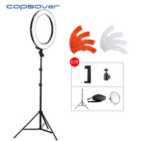 Capsaver 5500K LED Studio Ring Light With Tripod Dimmable Camera Photo Studio Phone Video Photography Lighting