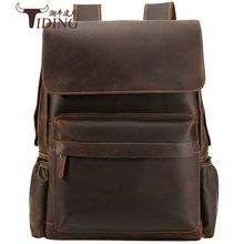 Men Travel backpack genuine leather 16 Laptop Big Brand Casual Business Casual Large School Backpacks Bags Bookbag Designer Bag original fashion classic business backpack men genuine leather bag backpacks large capacity students business bags 15inch laptop