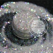 № 22 1 мм переливающийся белый с Цвет ful свет Цвет Блеск порошок для ногтей, tatto искусство украшения DIY хлопья
