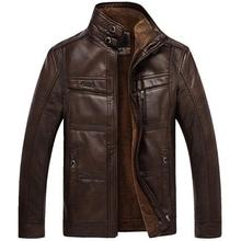 Mountainskin Leather Jacket Men Coats 5XL Brand High Quality PU Outerwear Business Winter Faux Fur Male Fleece 2019
