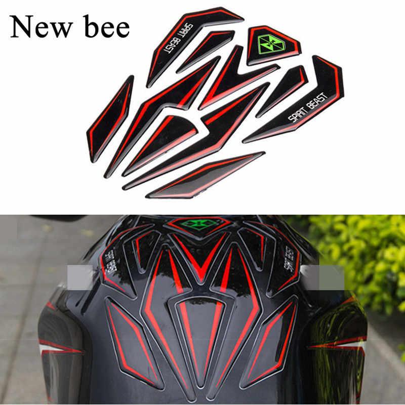 Newbee 反射 3D オートバイステッカー燃料タンクプロテクターパッドカバーデコレーションステッカーホンダ KTM ヤマハカワサキスズキ