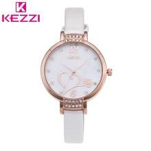 2016 K-1411 Señoras de la Marca de Lujo de la Marca QuartzWatch Moda KEZZI Relojes de Las Mujeres Rhinestone Reloj de Pulsera Relogio Feminino Regalo KZ37