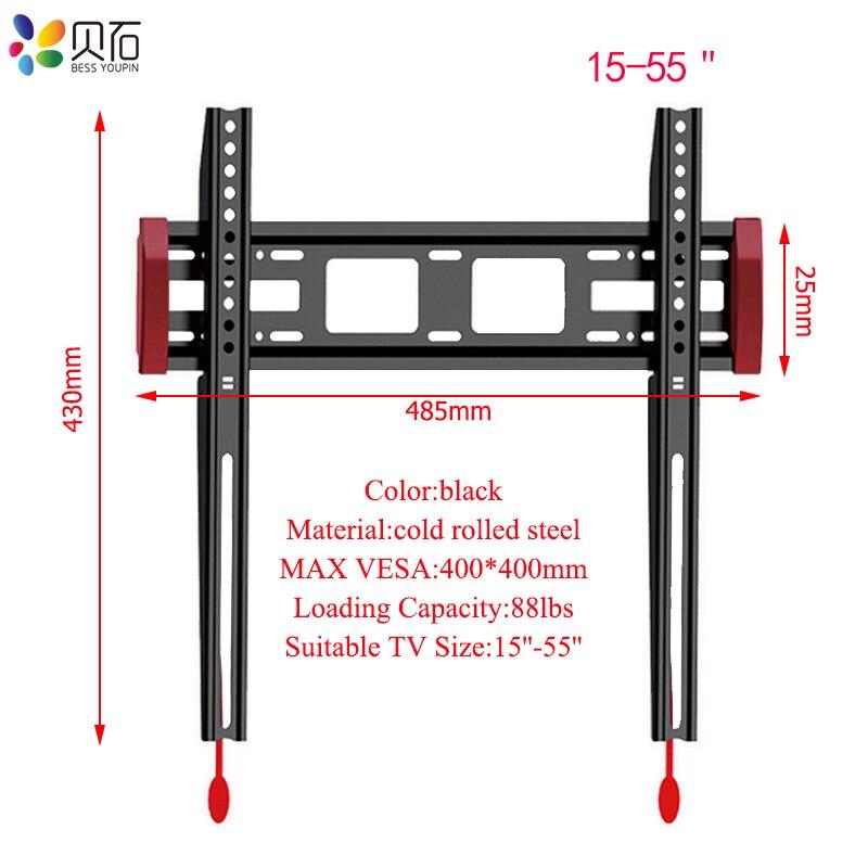 Support de montage mural TV universel cadre TV pour 15-55 pouces LCD moniteur LED écran plat Plasma HDTV Support de Support TV Max Support 40 kg