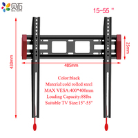 Universal TV Wall Mount Bracket TV Frame for 15 55 Inch LCD LED Monitor Flat Panel Plasma HDTV TV Stand Holder Max Support 40kg