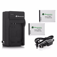 Powerextra 2pcs 1500mAh NB-5L 3.7v Battery For Canon PowerShot S100 S110 SX200 SX210 SD990 IS SX230 + Camera Battery Charger