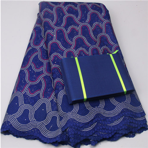 royal blue African swiss voile lace wedding 2017 women dress high quality swiss voile laces switzerland match purple aso oke