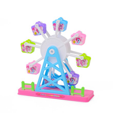 Toys Doll Accessories Simulation Rotate Ferris Wheel Amusement Park Pretend Play House Toy For Girls Gifts