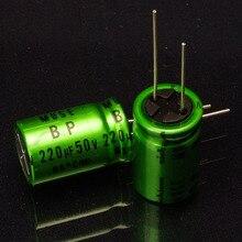 2018 מכירה לוהטת 50pcs יפני nichicon המקורי electrodeless קבלים muse BP 220uf/50v מינימום אריזת משלוח חינם