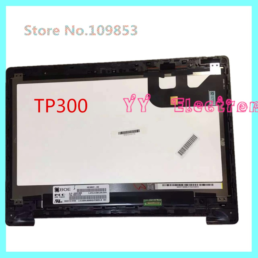For Asus Transformer Book TP300 TP300L TP300LA TP300LD-DW067 13.3'' LCD Touch Screen Digitizer+Bezel Display Laptop