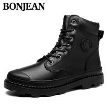Брендовые очень теплые зимние ботинки на меху для мужчин; мужская обувь, увеличивающая рост; нескользящая резиновая Повседневная рабочая обувь; повседневные ботильоны