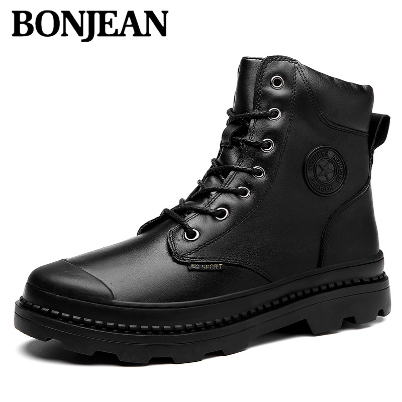 Brand Winter Fur Supper Warm Snow Boots For Men Adult Increase Male Shoes Non Slip Rubber Casual Wor