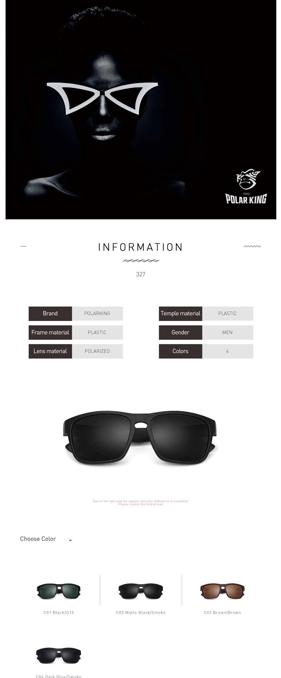 19797899fd POLARKING Brand Polarized Sunglasses For Men Driving Oculos de sol ...