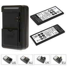 2x 3500mAh 3.85VDC Replacement Li-ion Battery For Samsung Galaxy Note Edge N9150 N915K N915L N915S + Wall Charger