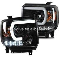 For GMC Sierra 2014 UP LED HEAD LAMP SN