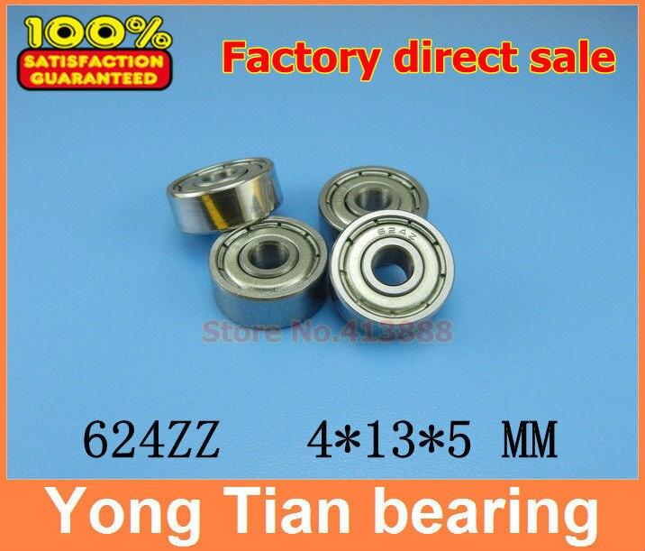 4x13x5 mm QTY 4 S624-2RS Stainless HYBRID CERAMIC Ball Bearing Bearings BLK