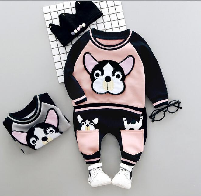 Winter Autumn Baby Girls Clothing Sets Cartoon Dog Long Sleeve Wweatshirts+Pant Fleece Newborn Baby Suits Baby Boys Clothing Set winter autumn baby girls clothing sets cartoon dog long sleeve wweatshirts pant fleece newborn baby suits baby boys clothing set
