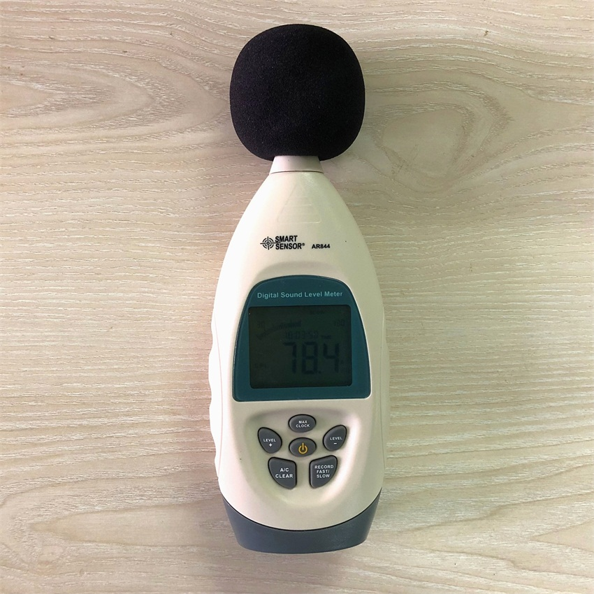 AR844 Digital Noise Level Meter Sound Level Meter Decibel DB Tester with Software & USB Cable 30~130dB 31.5HZ~8.5KHZAR844 Digital Noise Level Meter Sound Level Meter Decibel DB Tester with Software & USB Cable 30~130dB 31.5HZ~8.5KHZ