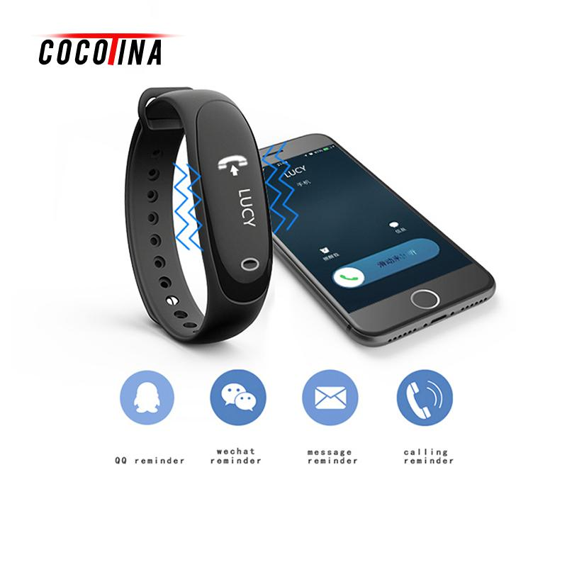 Smart Bracelet Heart Rate Monitor Reminder Wristband Wristband Bracelet Smart Heart Rate Monitor Fitness Tracker Touchpad OLED S