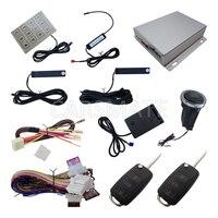 Smart PKE Car Alarm System HAA Flip Key With Shock Sensor Remote Start Push Button Start Auto Central Door Lock Keyless Entry