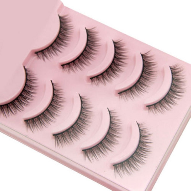 2019 Hot 5 Pairs Popular Natural Short Cross False Eyelashes Daily Eye Lashes Girls Makeup Necessaries Wimper Extensiofor