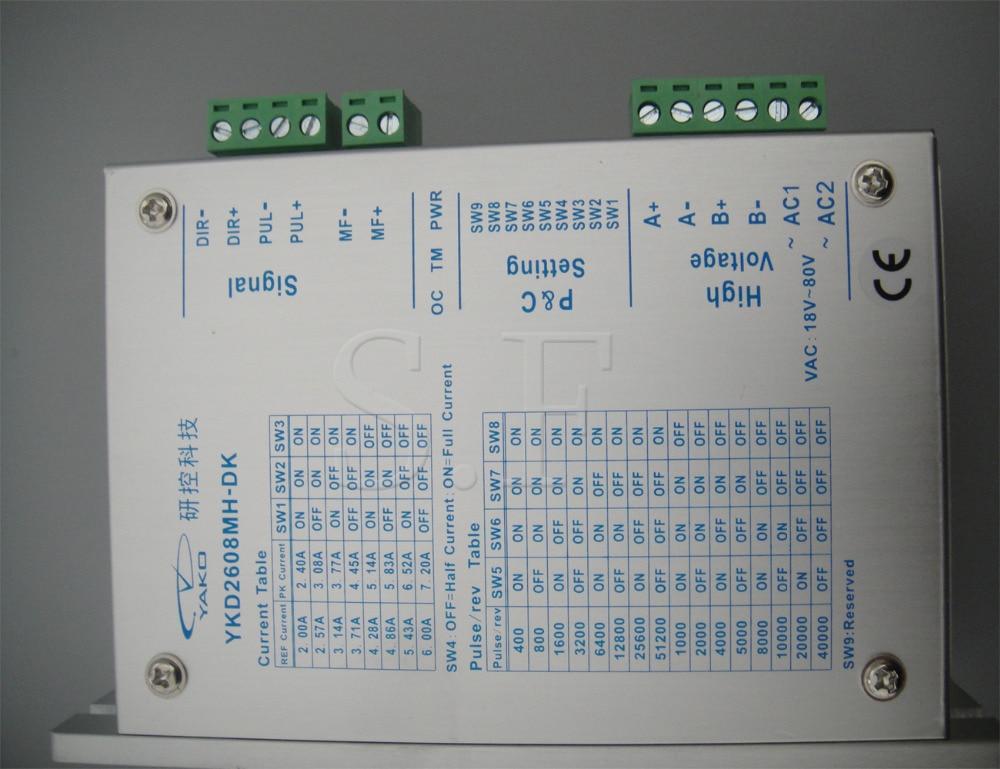 Controlador de motor paso a paso DC marca YAKO, YKB2608MH-DK para - Piezas para maquinas de carpinteria - foto 5