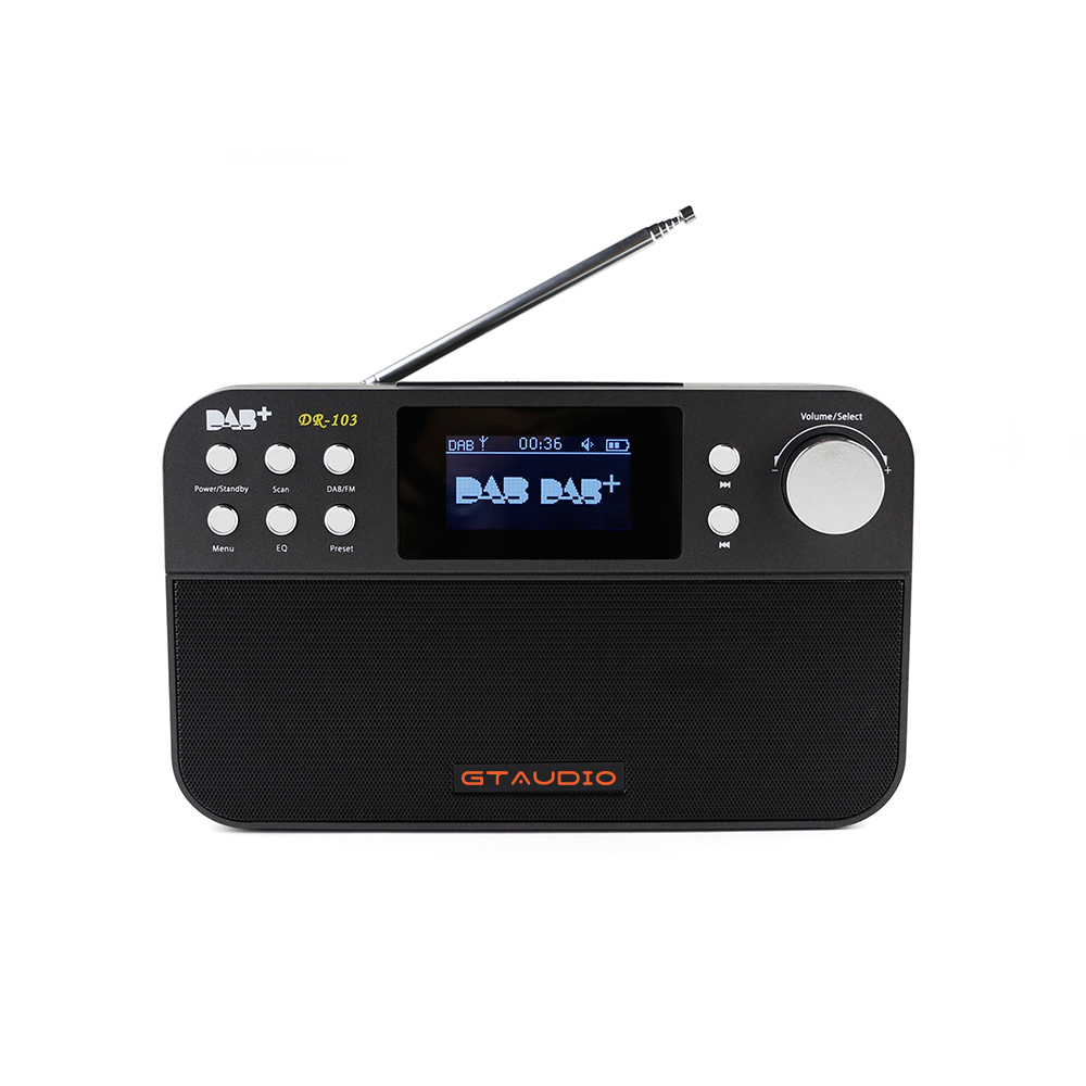 Free sat DR-103 Portable Digital Radio Receiver 2.4 inch TFT-LCD Black White Display Receptor Support DAB+/FM RDS Waveband Radio old version degen de1103 1 0 ssb pll fm stereo sw mw lw dual conversion digital world band radio receiver de 1103 free shipping