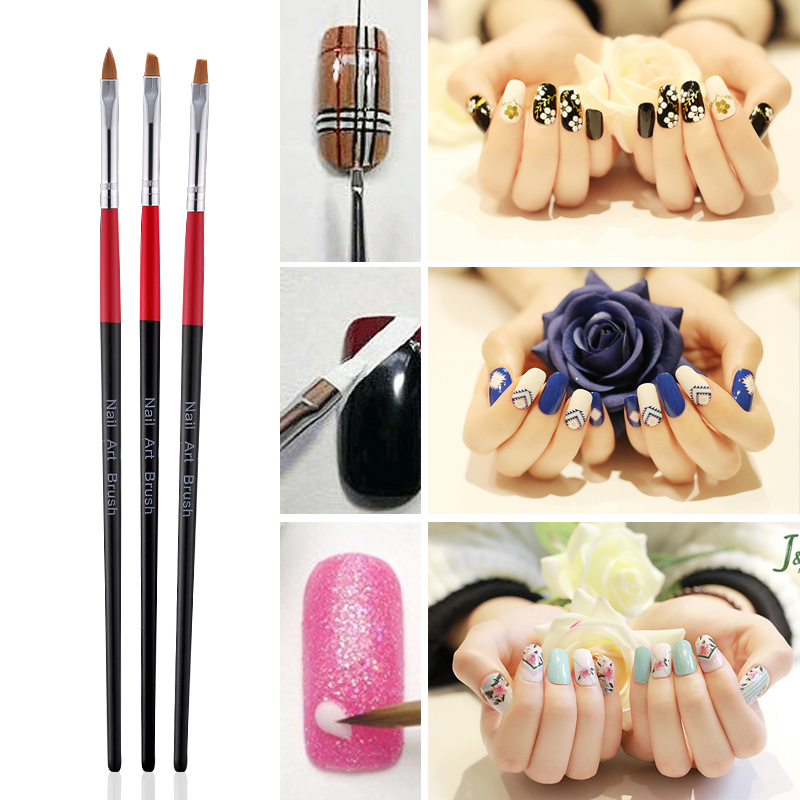 Modelones 3pcs Nail Art Gel Painting Pen Polish Set Nail Beauty Nail ...