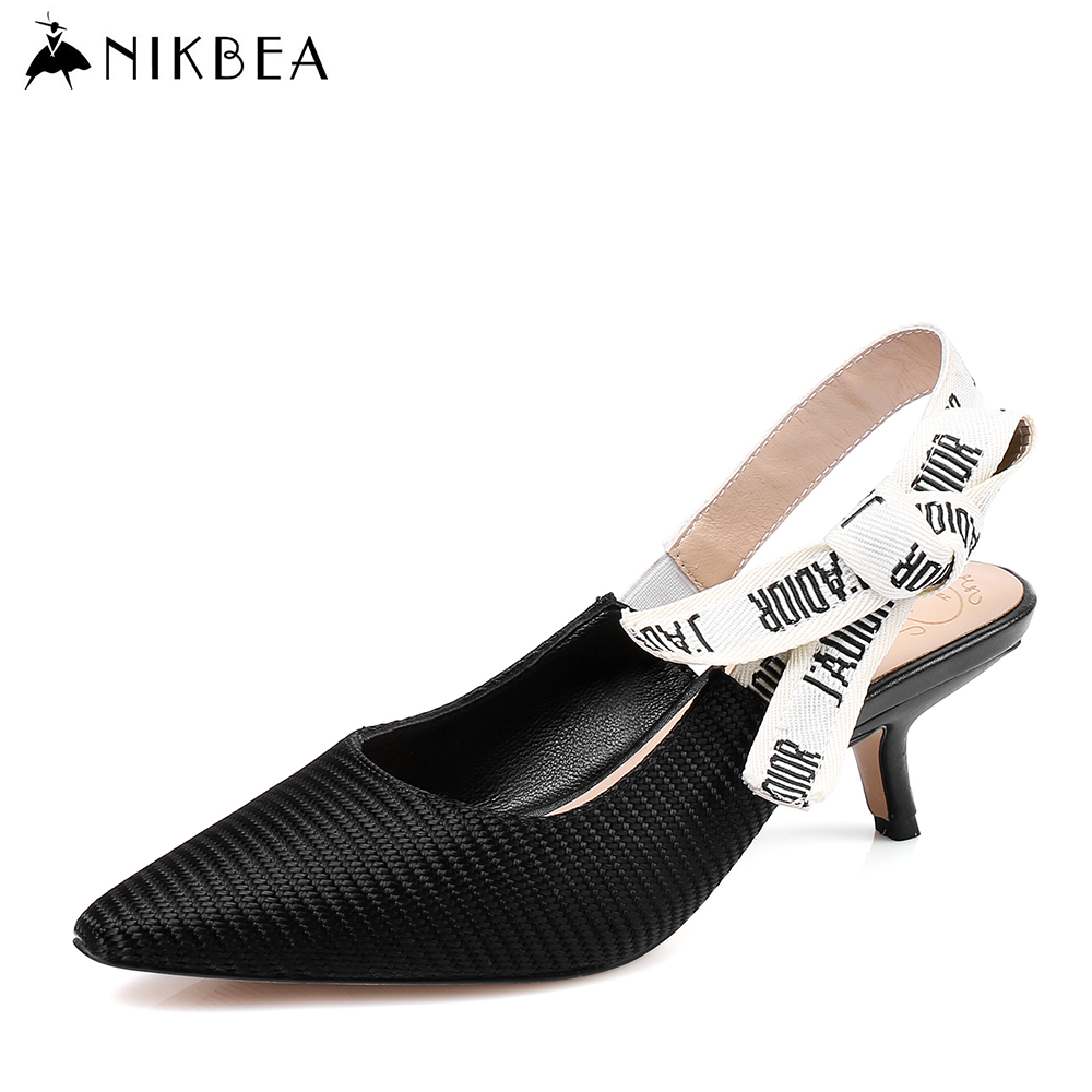 NIKBEA Sexy Point Toe Patent Leahter High Heels Pumps Shoes 2017 Newest Woman's Sandals Heels Shoes Wedding Shoes  35-43 Size bigtree 2017 sexy pearl metal point toe patent leahter high heels pumps shoes woman s red sandals heels shoes wedding shoes k109