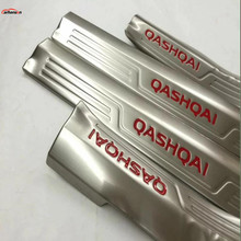 Car Styling For Nissan Qashqai 2015-2019 Accessories Stainless Steel Door Sill pedal Car Sticker Scuff Plate Guard Protector