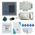 Free Shipping Complete RFID Electric Lock Access Control System Kit Set with Keypad+Electric Lock+Power+Exit+Remote+Door bell