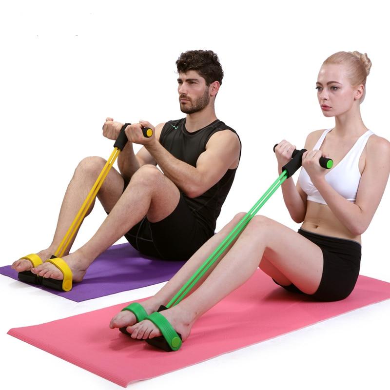 Dayanıklı Bant Pedal Egzersiz Vücut Düzeltici Sit-ups Elastik Direnç Band Kauçuk Eğitim ABS Egzersiz Ev Fitness Ekipmanları